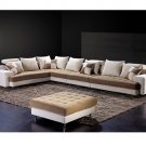 Eho-F169 // Gahr Microfiber Sectional with Ottoman