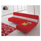 Eho-C132  //  Red Sectional with White Molded Back Rests  //  Eho-C132