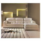 CH-SANTA // Santa Fe Light Tan Sectional with Leather Upholstery