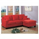 acme  5917  //  Vogue Red Microfiber Sectional Set