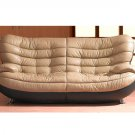 Contemporary Half Leather Sofa Brooklyn Heights  //  Model: ESF-2067