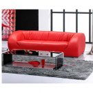 Designer Modern Sofa in Cherry Red Leather  //  Eho-1191