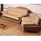 Contemporary 1-2 Genuine Leather Sofa Gemma  //  ESF-648