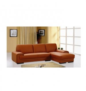 BH Velop  //  Velop Modern Orange Leather Modern Sectional Sofa