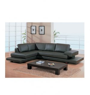 GLOBAL-729  //  Dark Brown '729' Leather Sectional