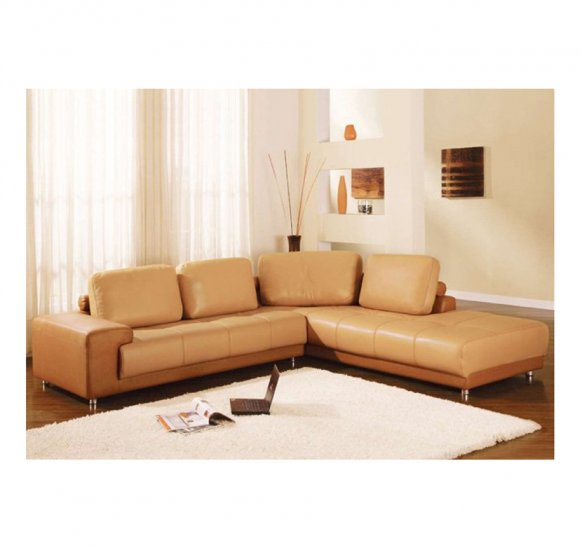 Cr-ve  //  Sonata Dual Colored Sectional with Adjustable Headrests