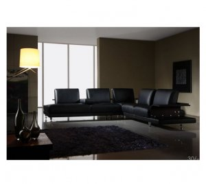 ESF-M133  //   Modern Leather Living Room M133 Sectional