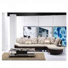 Eho-1156  //  Salvatore Two-Toned Leather Sectional Sofa