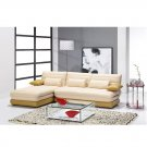 Eho-1184  //  Top Grain Italian Leather Modern Sectional