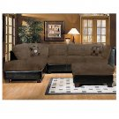 ACM Deltona  // Deltona Chocolate Sectional Sofa by ACM