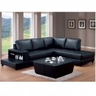 C_TRENTON // Black Leather Match Sectional, from Trenton Collection