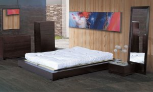 Zen Minimalistic Modern Desgn Solid Wood Bedroom Set
