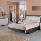 Rounded Shape Design Modern Bedroom Group w/ Headboard Lighting