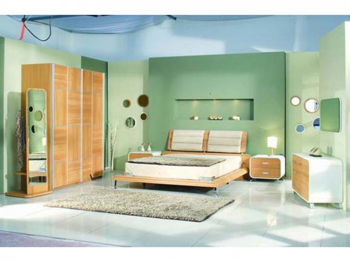 Retro Contemporary European Bedroom Set