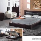Pareto Elegant Wenge Solid Wood Bedroom Set