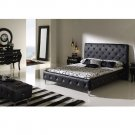 Nelly Modern Bedroom Set in White or Black Leather