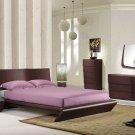 Modern Style Wenge Shiny Rectangular Headboar Bedroom