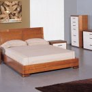 Maya Elegant Solid Wood Bedroom Set with Color Options