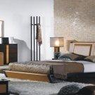 Jenny Chocolate Leather Modern Bedroom Set
