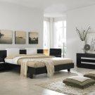 Exclusive Modern Design Dark Brown Color Wooden Bedroom Set