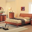 Emily Modern Bedroom set in cherry finish (Queen/King)