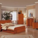 Contemporary Cherry Finish Bedroom Set G018