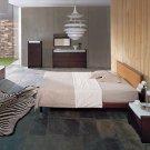Captivating Glass / Solid Wood Designer Metro Bedroom Set