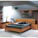 Brescia Complete Modern Natural Wood Bedroom Set