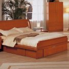 ESF-G018 //  Cherry Color Sleigh Bed from G018 Collection by ESF Furniture