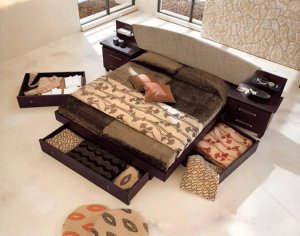 ESF-Miss Italia  //  Contemporary European Style Platform Bed Miss Italia
