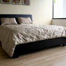 WSI-B-27-J509  //  Modern Leather Queen Size Platform Bed with Solid Wood Frame