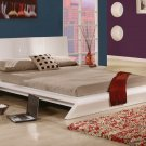 CR-Orion //  Shiny White Color Modern Platform Bed Orion Collection