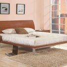 CR-Minotti  //  Walnut Color Modern Rectangular Headboard Platform Bed Minotti