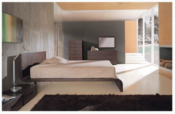 Cosmo  Innovative Design Solid Wood   Bedroom Set