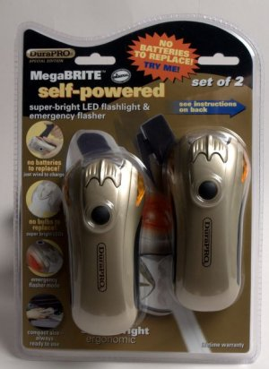 Durapro Self-Powered Rechargeable Flashlight and emergency Flasher