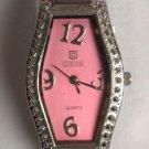 Watch Ladies Pink Leather Quartz Gift Set Change Purse Key Ring NIB