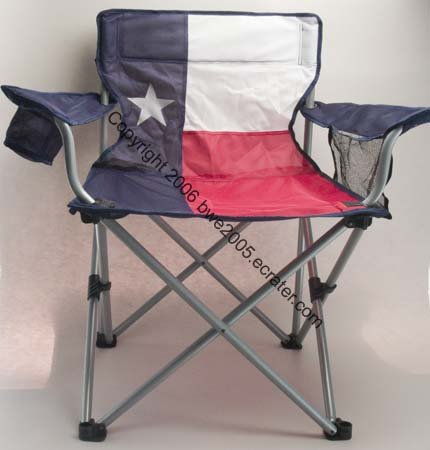Texas Flag Folding Chair Drink Holder Mesh Pocket Tail Gating Football Camping Patio NIB