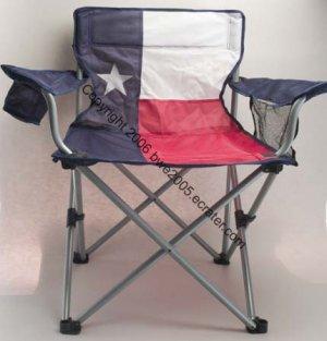 Texas Flag Folding Chair Drink Holder Mesh Pocket Tail