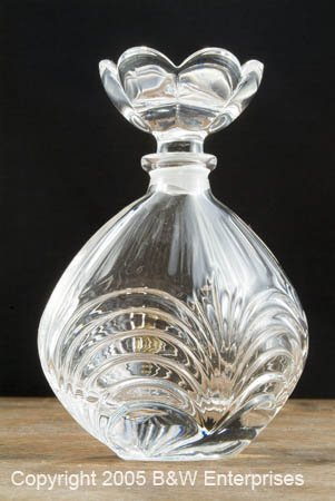 Leaded Crystal Perfume Bottle 24% Leaded Crystal Italy Vintage Style