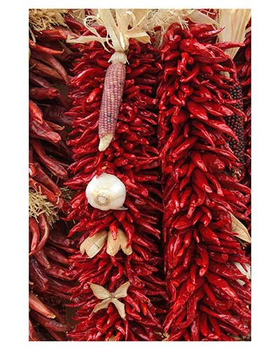 """""""Some Like It Hot"""" Chili Peppers Cooking Red New Mexico Fine Art Photo Sante Fe Texas"""