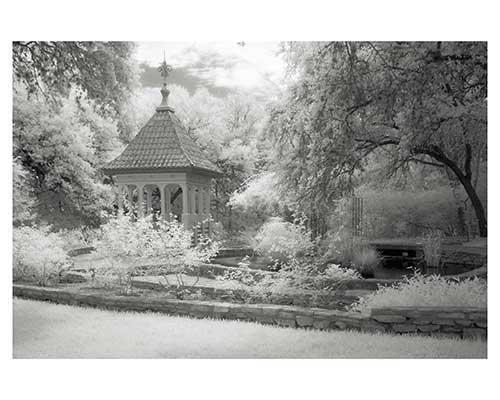 """Cupola # 10"" Fantasy Infrared Fine Art Photo Landscape Garden Austin Texas Zilker Gardens"