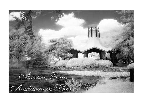 """Auditorium Shores"" Infrared Photo Austin Texas Fine Art Photo Landscape Eddie Burgess"