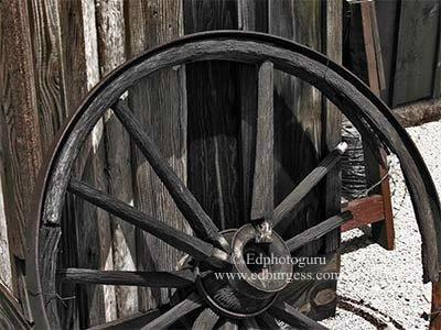 """Broken Spoke"" Southwestern Broken Wagon Spoke Tucson Arizona Photo"