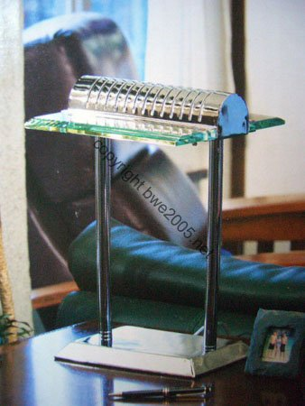 Holmes Executive 'Touch' Desk Lamp Plus a bonus of two (2) 40 Watt bulbs Chrome Cut Glass