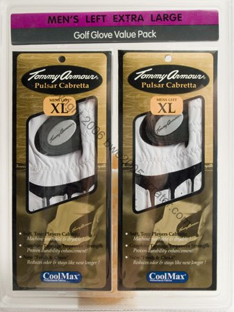 Golf Glove TOMMY ARMOUR Pulsar Cabretta Men's x-large set of 2 NIB