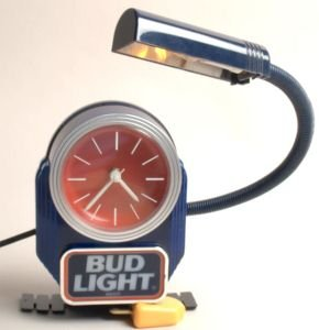 Vintage authentic Bud-Light Beer Corporate Bartender Sign Electric w Clock produced 1993 sign.
