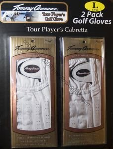 Golf Glove TOMMY ARMOUR Tour Player's Cabretta Men's x-large left set of 2 NIB