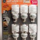 Fluorescent Bulbs by GE 6-Pack 26 Watt bulbs with 100 watt Output Save Electricity NIB