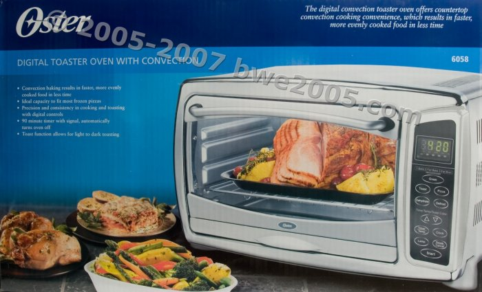 Oster Model 6058 6 Slice Toaster Convection Tabletop Oven w Racks NIB