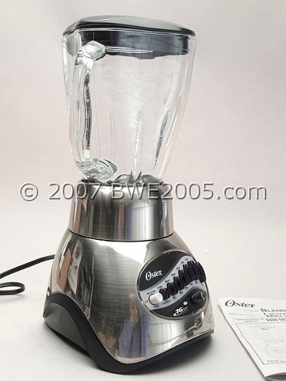 OSTER 16 Speed Blender Brushed Nickel Finish Model 6817 Ice Coffee Drinks Soups Brand New